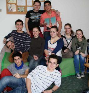 Fiatalok az egyik ifihétvégén, Jókán