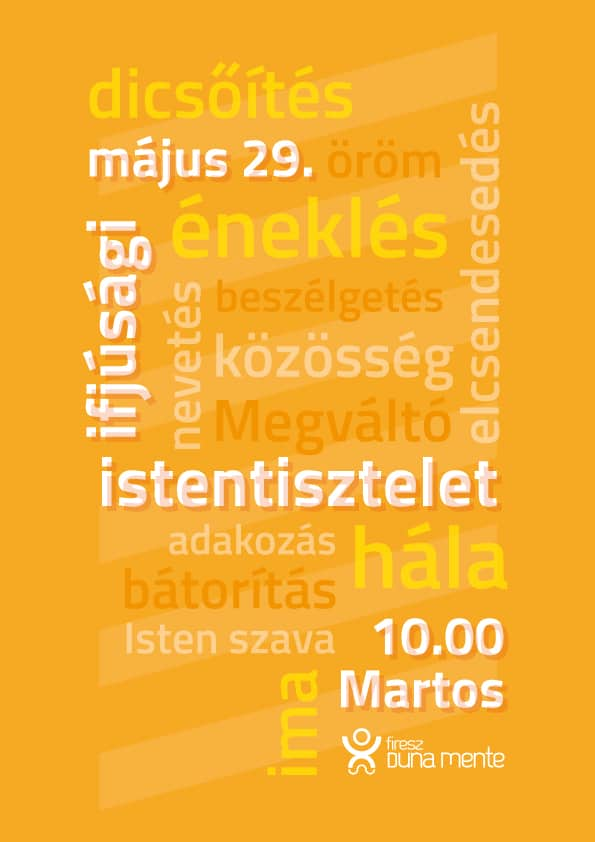 II. ifjúsági istentisztelet – plakát
